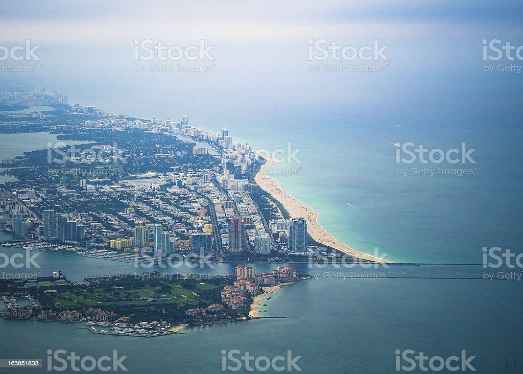Mami Beach Aerial royalty-free stock photo