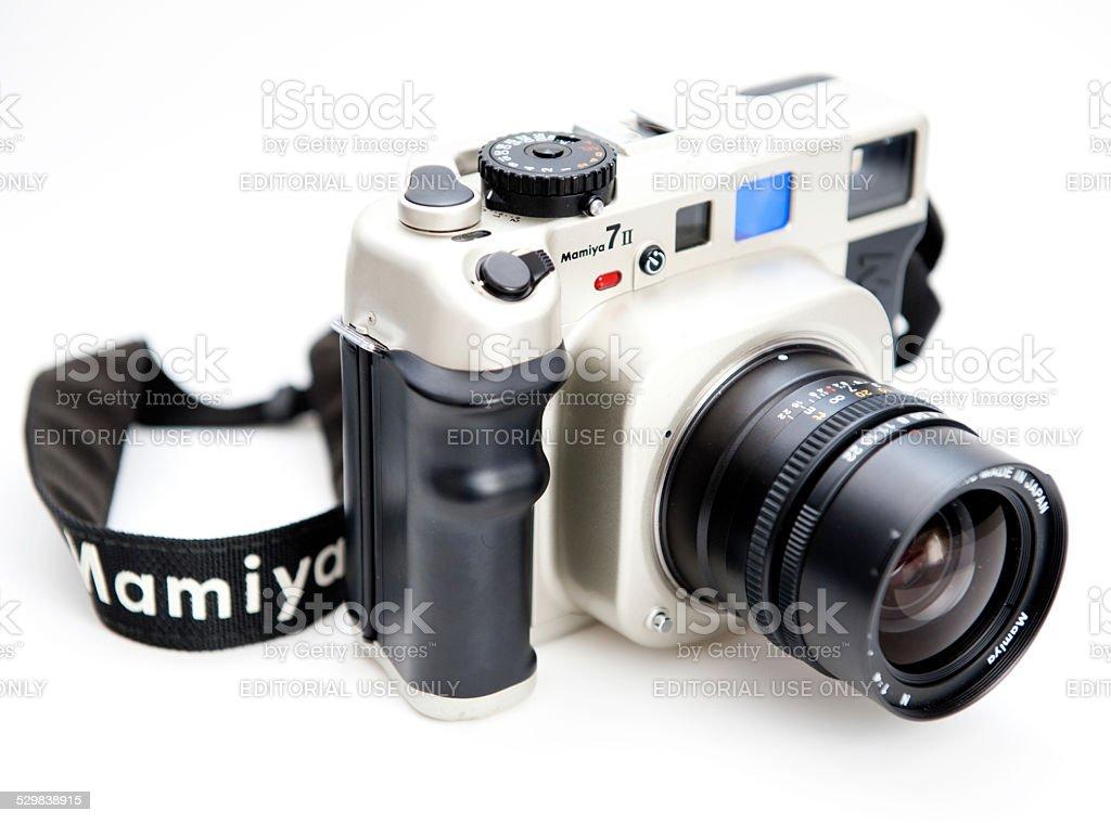 Mamiya 7 medium-format rangefinder camera stock photo