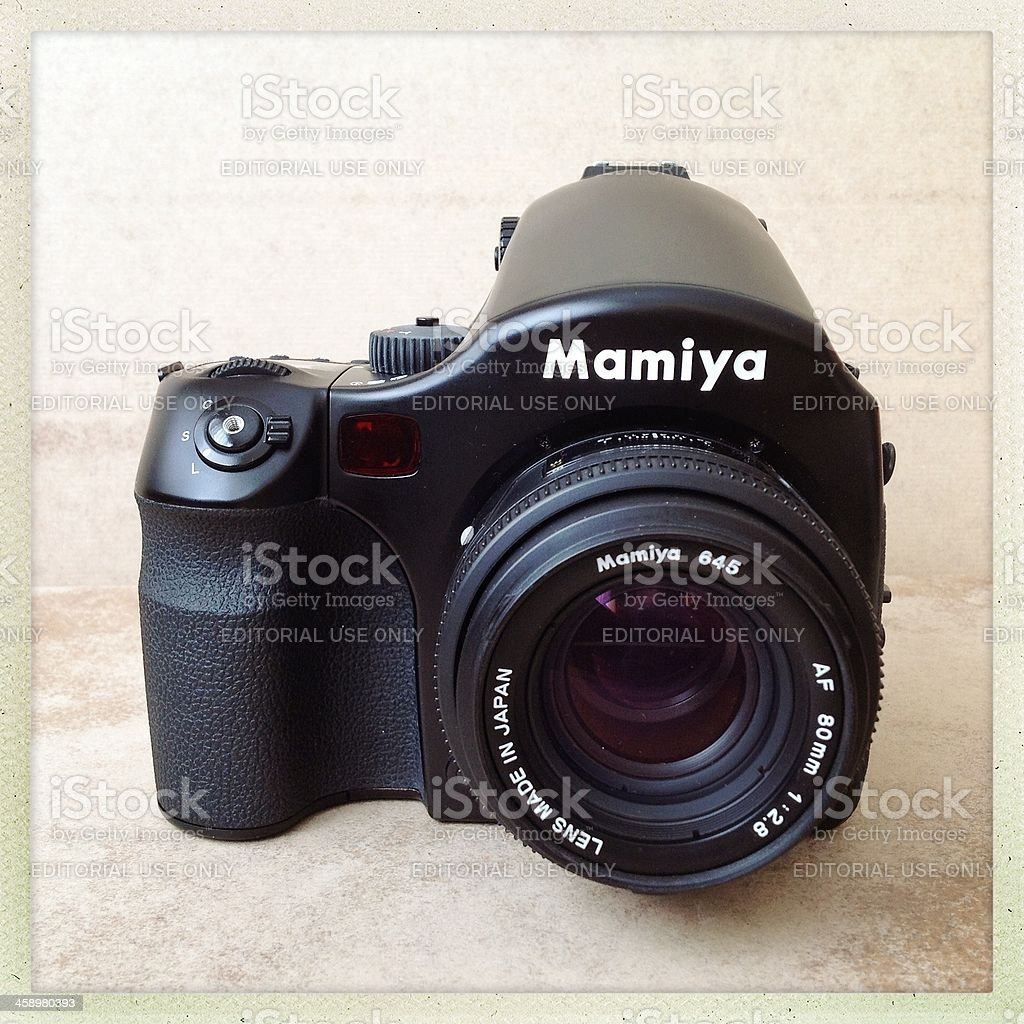 Mamiya Medium format Digital Camera stock photo