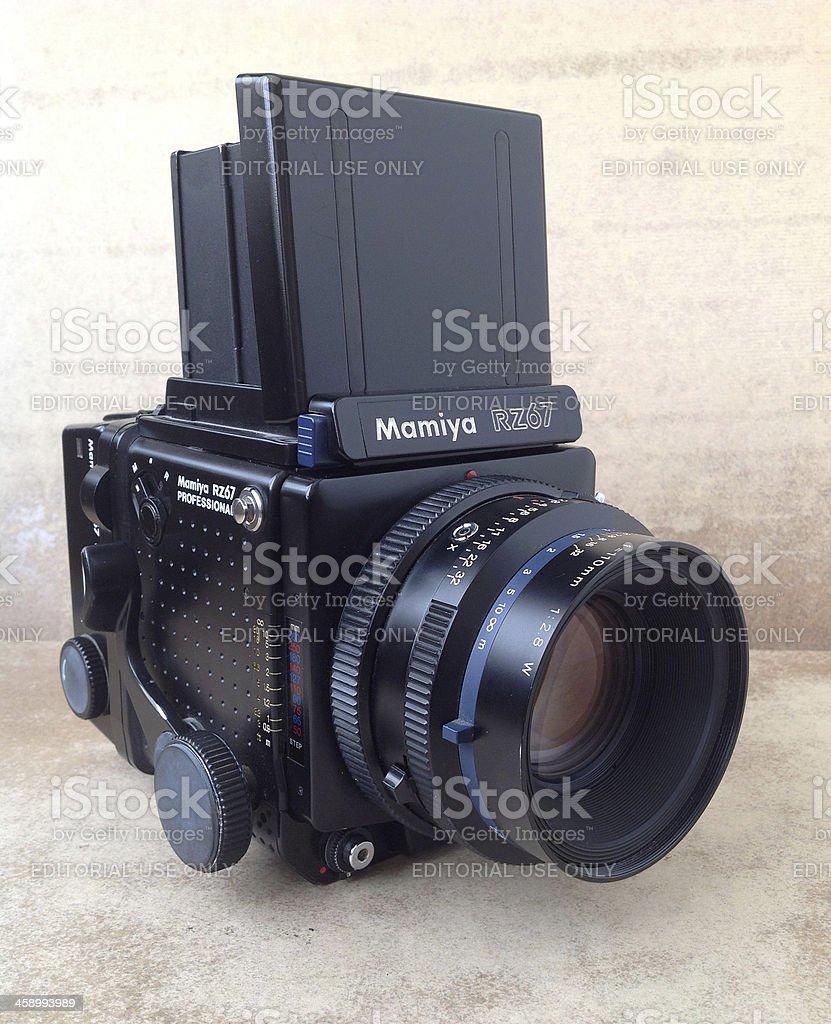 Mamiya rz67 medium format camera royalty-free stock photo