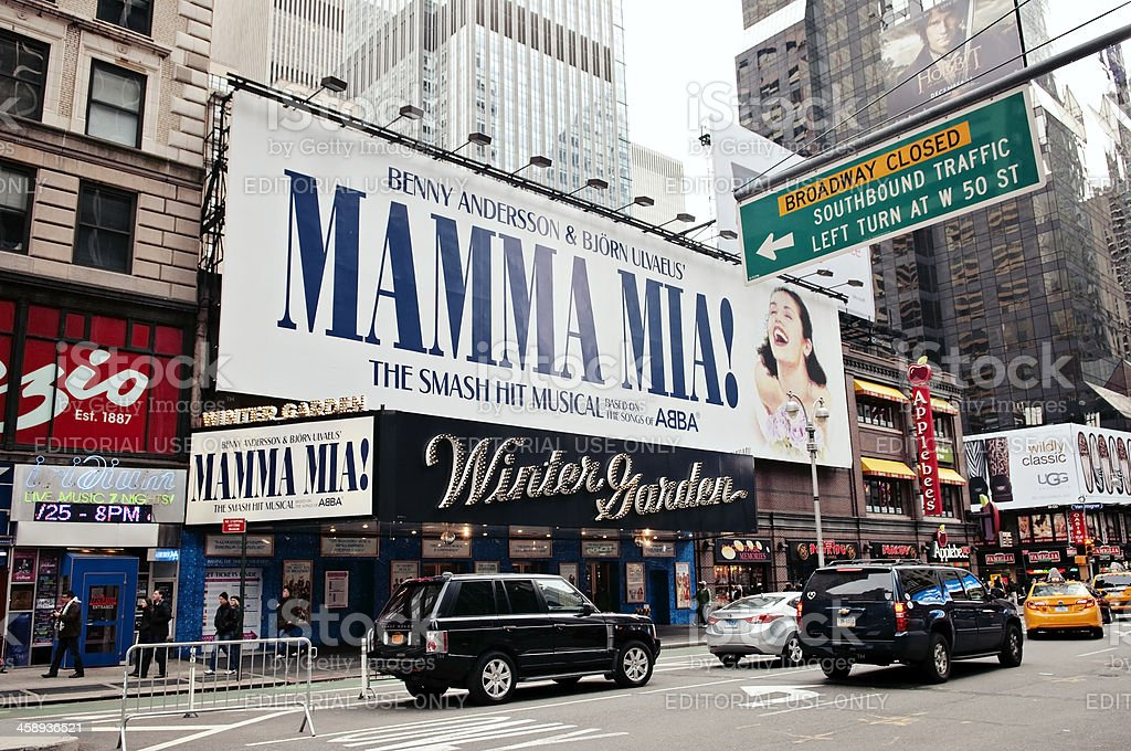 Mamma Mia on Broadway, New York City stock photo