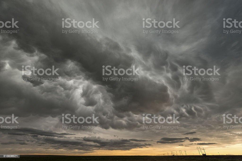 Mammatus Cloud stock photo