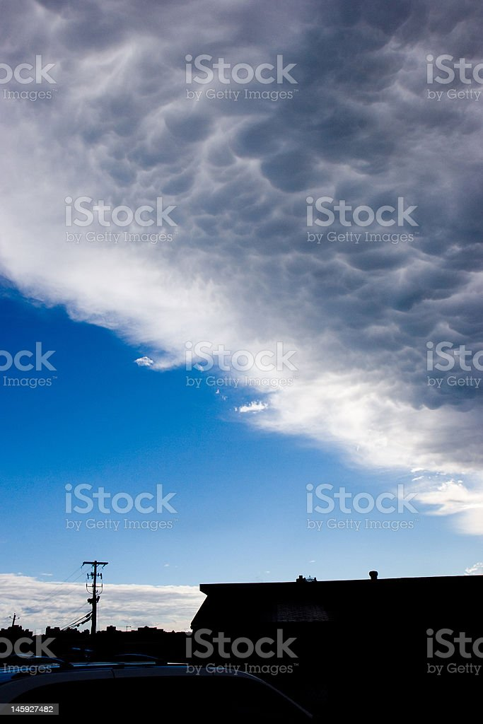 Mammatus royalty-free stock photo