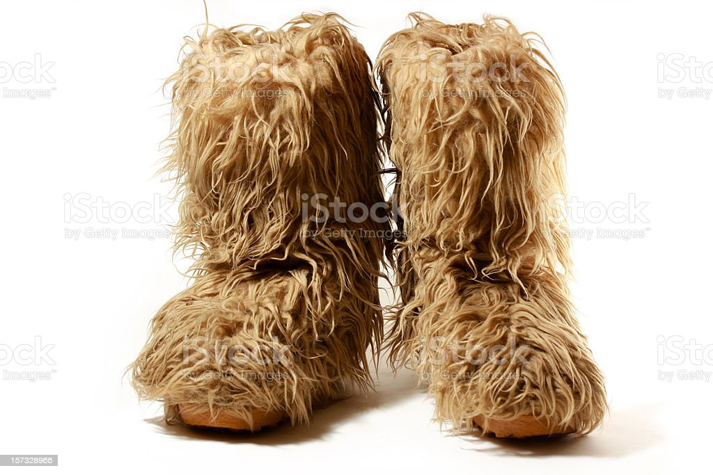 Mammoth afterski boots royalty-free stock photo