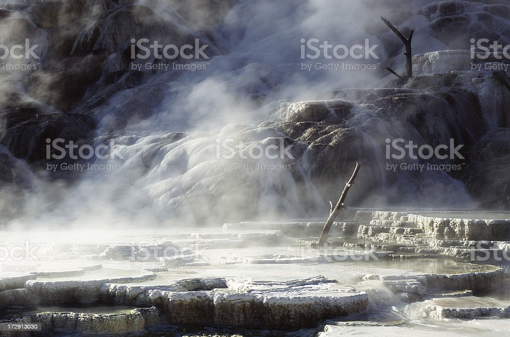 Mammoth Hot Spring royalty-free stock photo