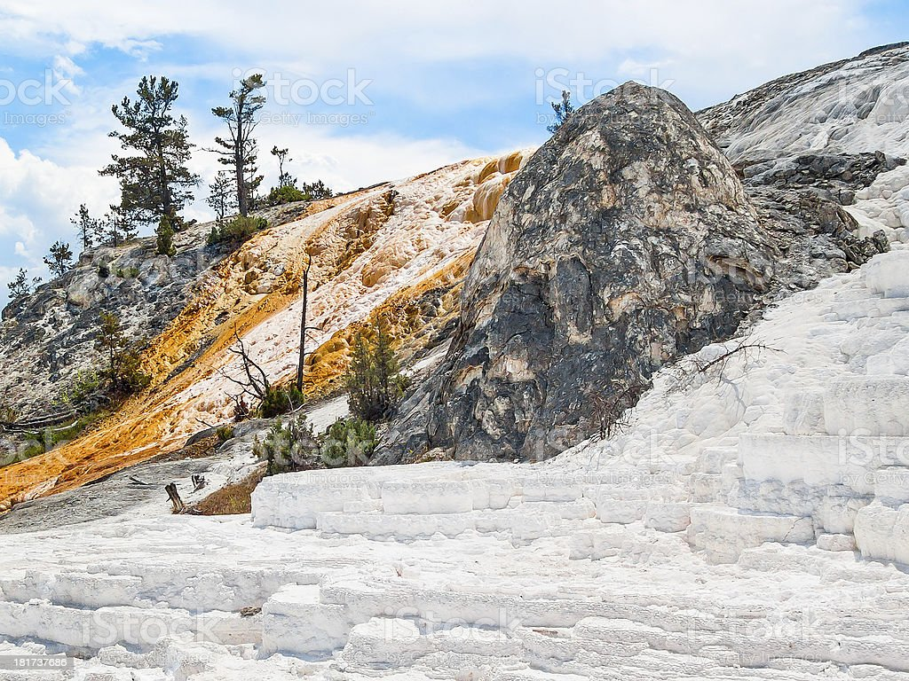 Mammoth Hot Springs di Yellowstone foto stock royalty-free