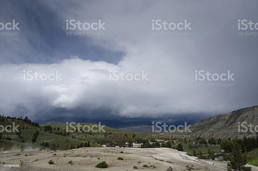 Mammoth Hot Springs royalty-free stock photo