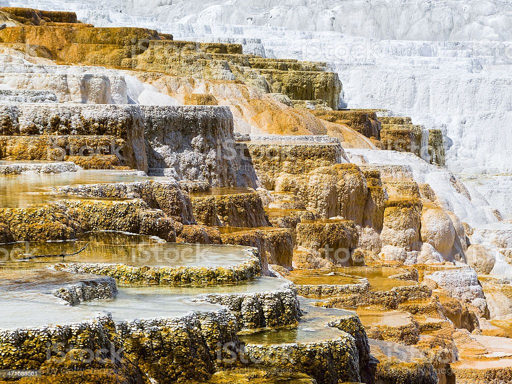 Mammoth Hot Springs Terraces royalty-free stock photo