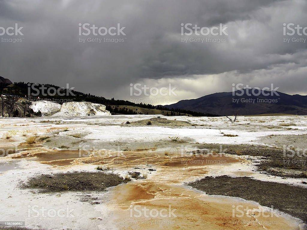 Mammoth Hot Springs, Yellowstone National Park royalty-free stock photo