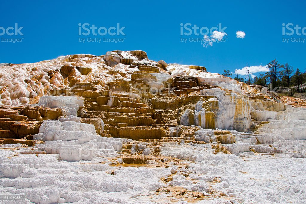 Mammoth Hot Springs, Yellowstone National Park stock photo