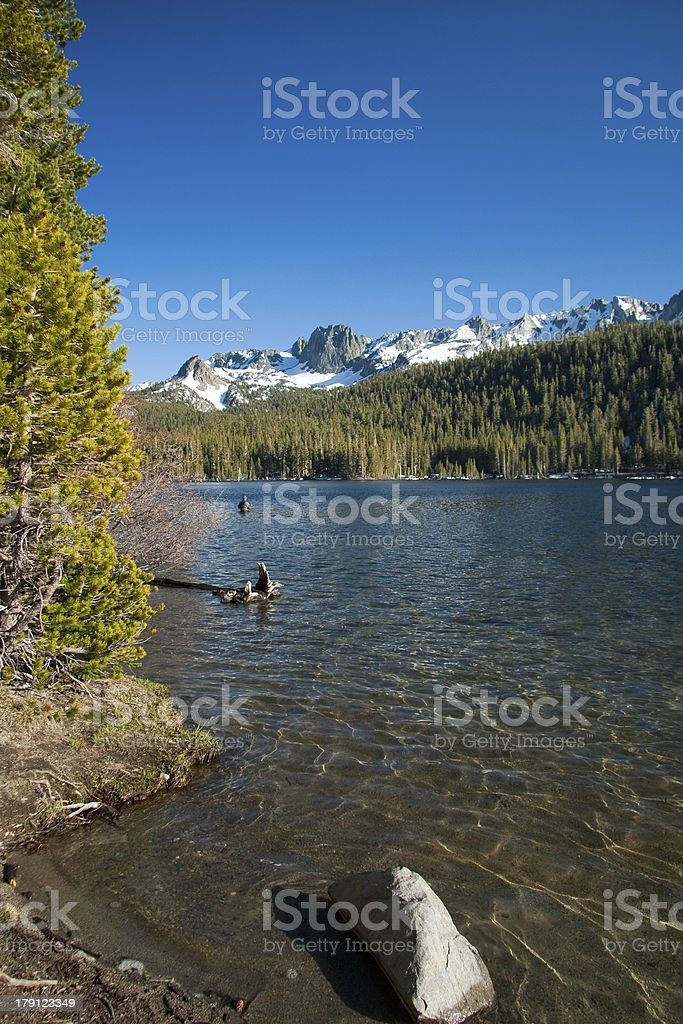Mammoth Lakes and mountains royalty-free stock photo
