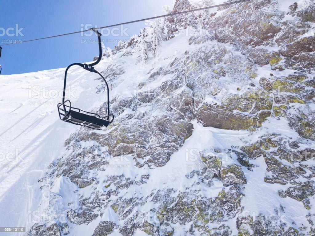 Mammoth Mountain Ski Lift stock photo