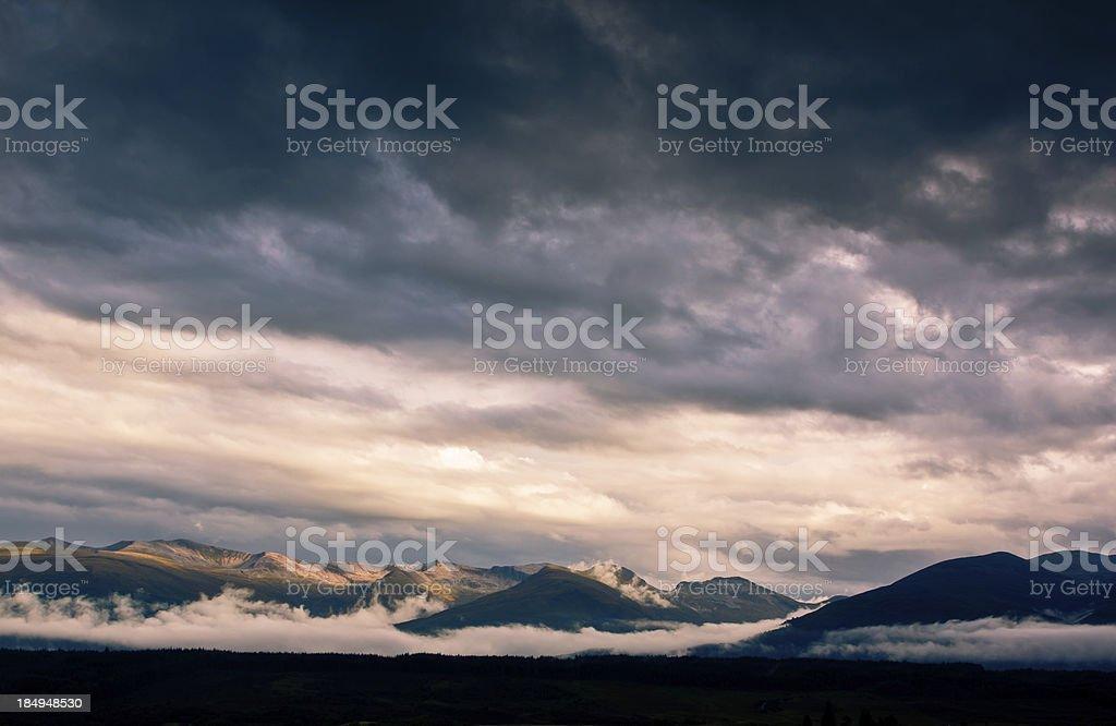 Mamore Mountains royalty-free stock photo