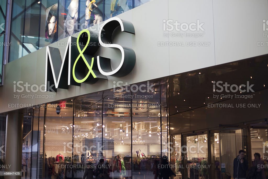 M&S Store in Westfield Shopping Centre, Stratford, London. stock photo