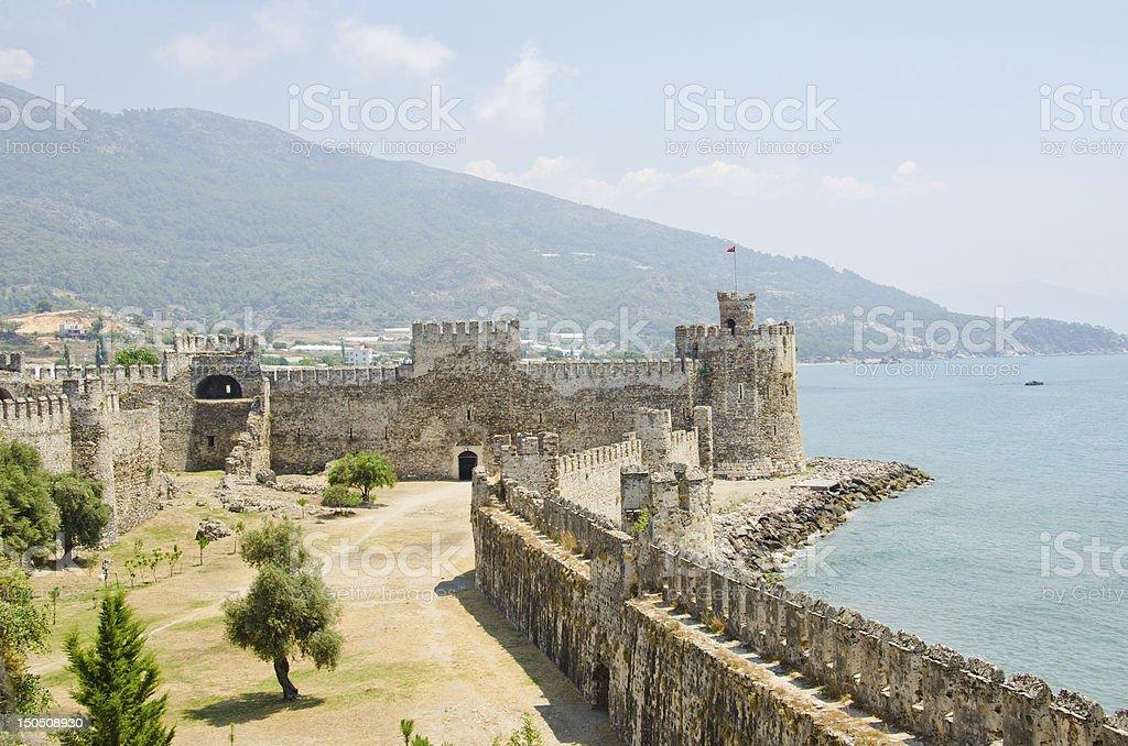 Mamure (Anamur) castle ruins, Turkey stock photo