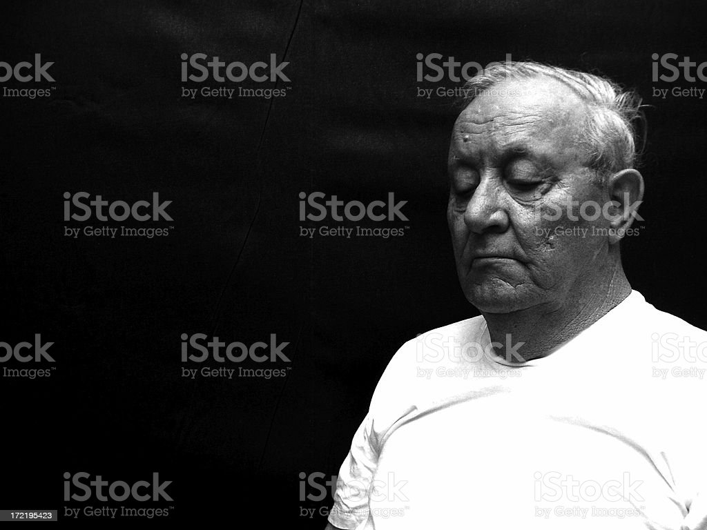 Man 3 - Black and White royalty-free stock photo
