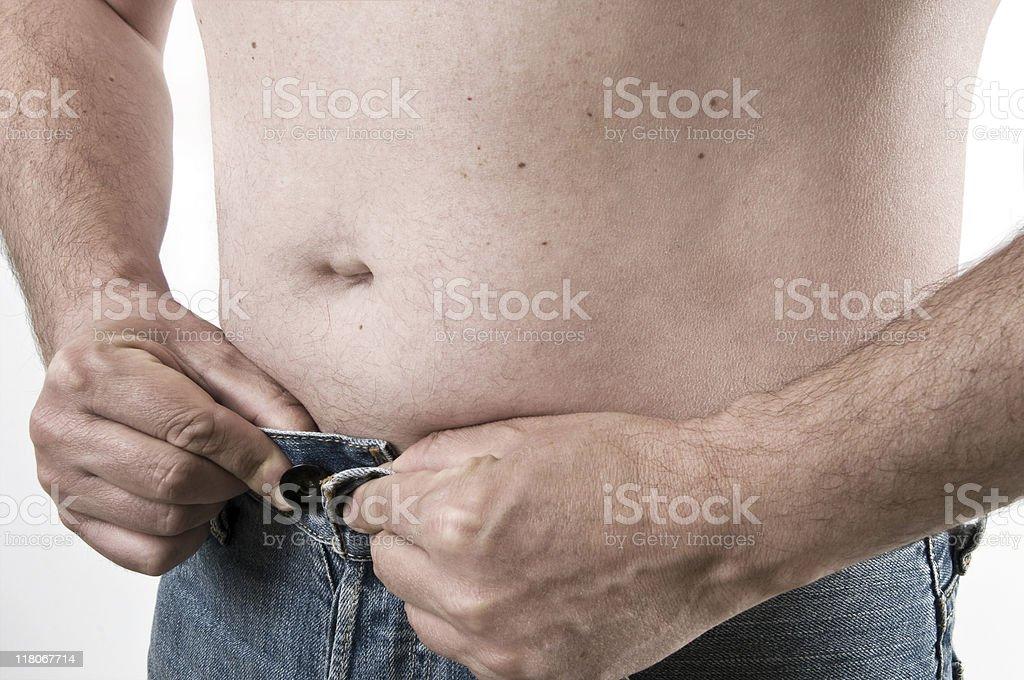 man abdomen royalty-free stock photo