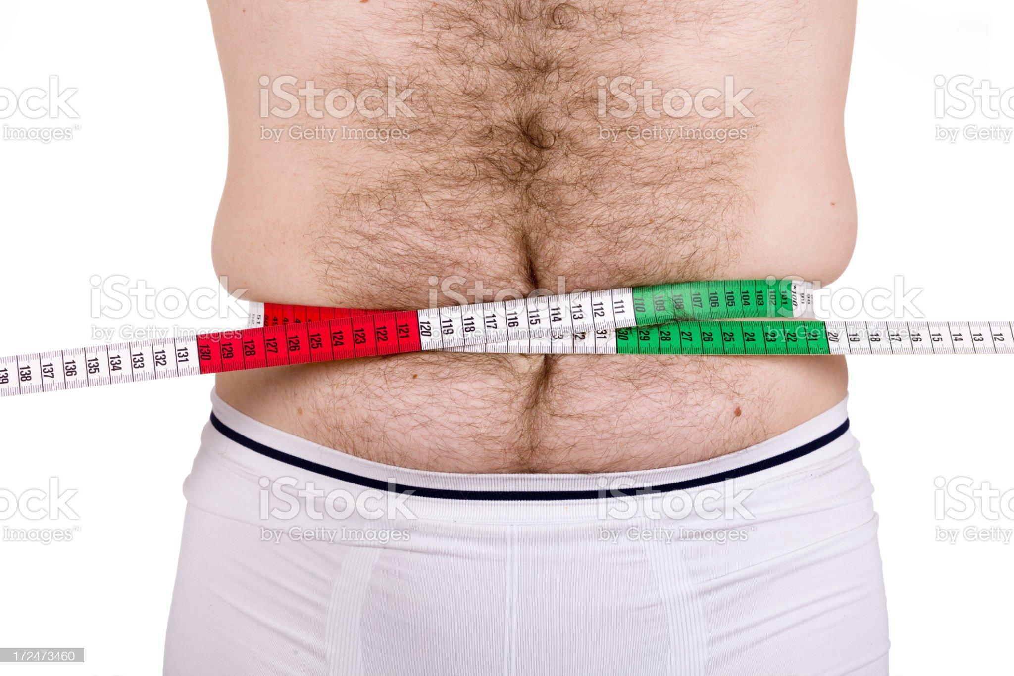 man abdomen XXXL royalty-free stock photo