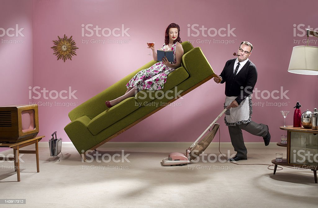 man about the house royalty-free stock photo