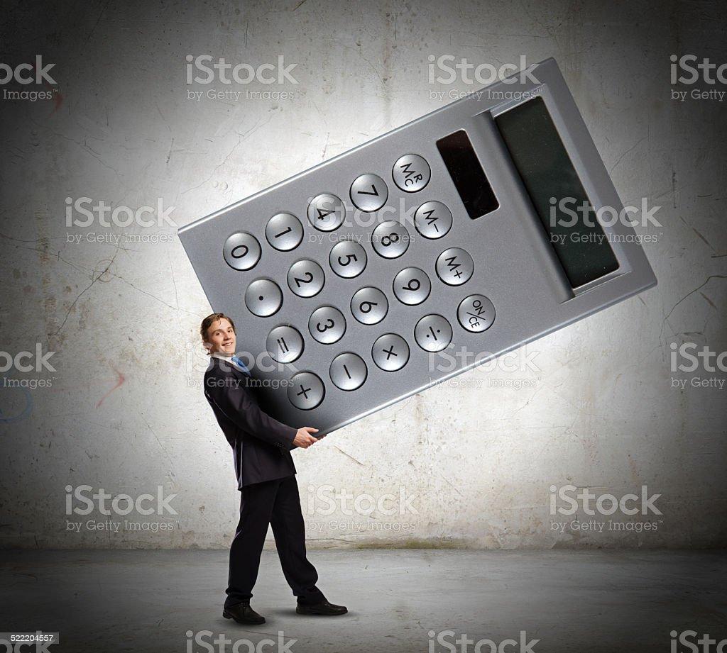 Man accountant stock photo