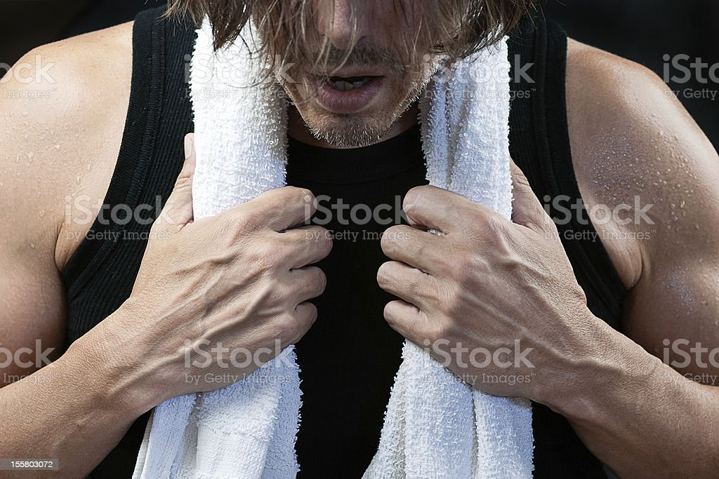 Man After Workout, Front View royalty-free stock photo