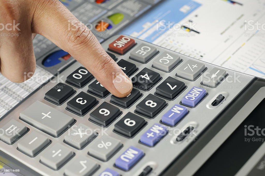 Man Analyzing Financial Data royalty-free stock photo