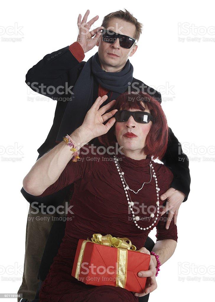 man and aman royalty-free stock photo