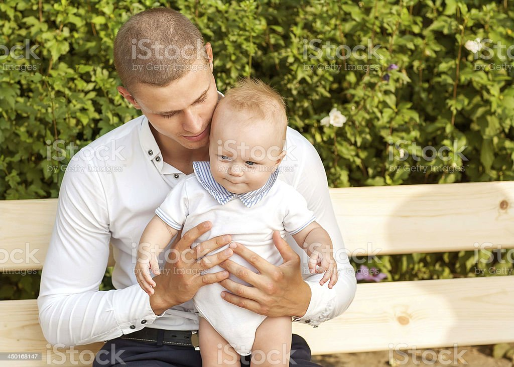 man and baby royalty-free stock photo