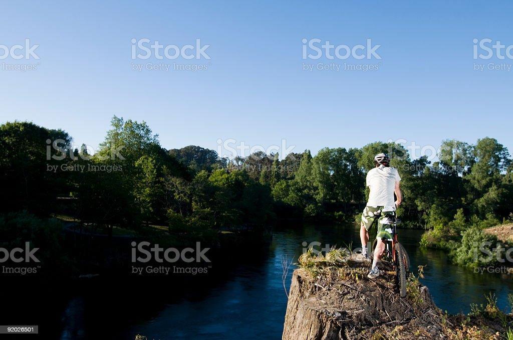 man and bike royalty-free stock photo