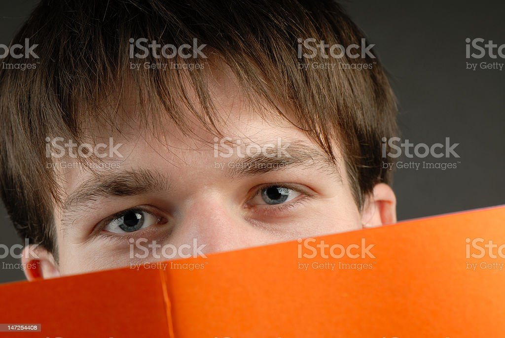 man and book royalty-free stock photo