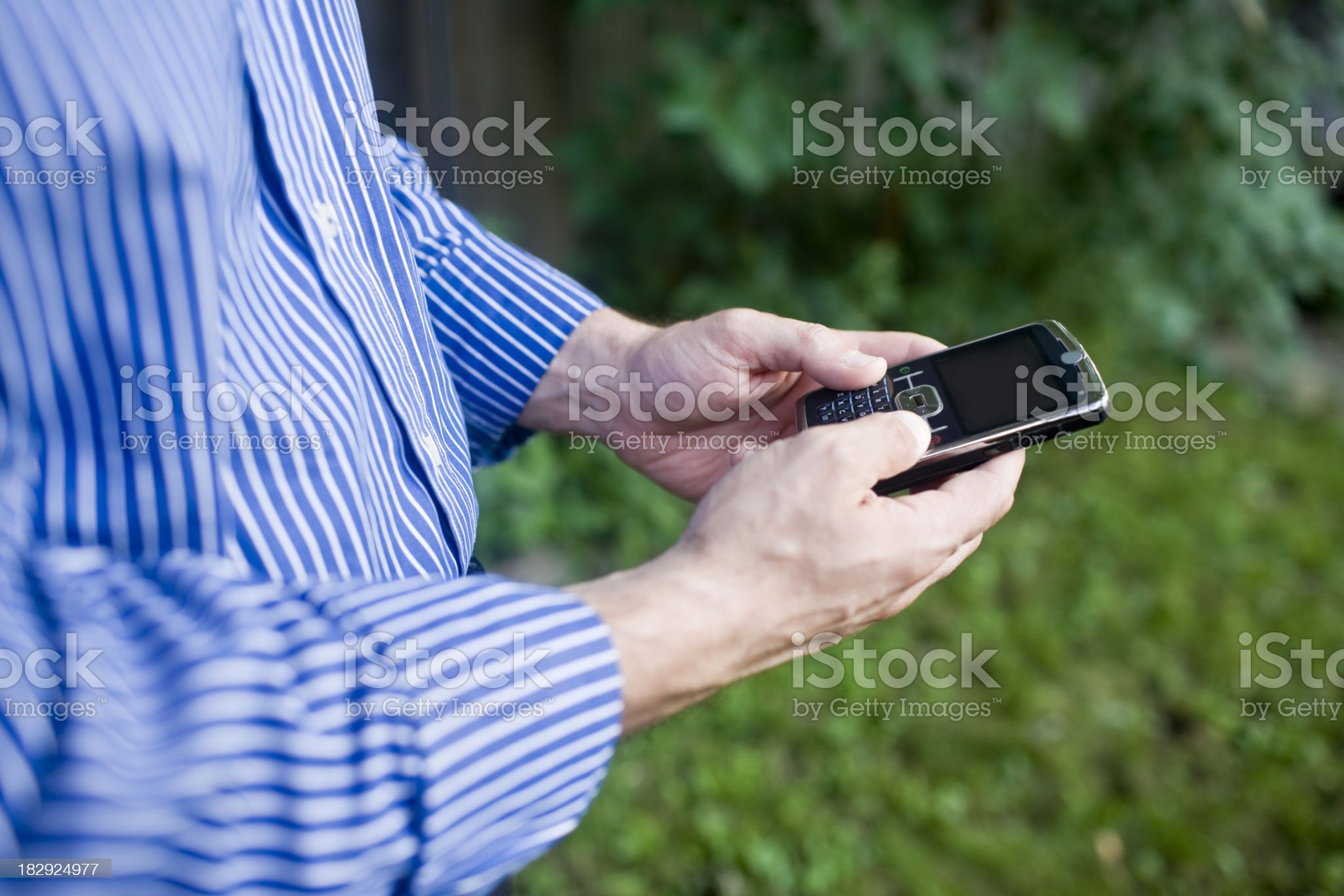Man and Cell Phone royalty-free stock photo