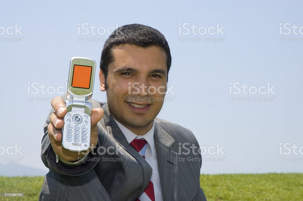 man and cellphone royalty-free stock photo