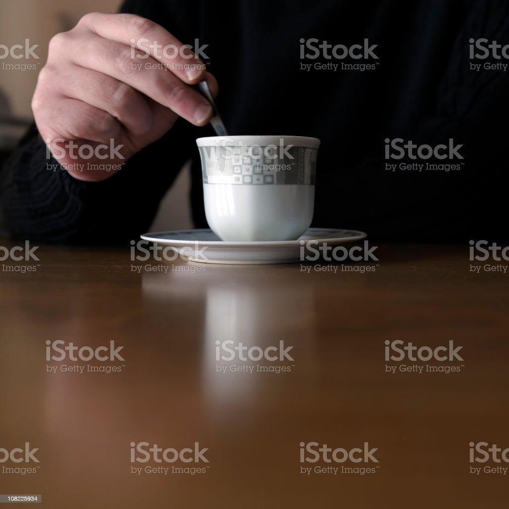 Man and Coffee royalty-free stock photo