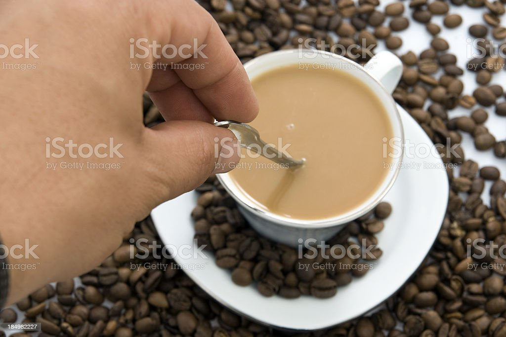 Man and Coffee stock photo