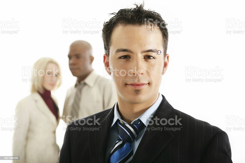 Man and co-workers royalty-free stock photo