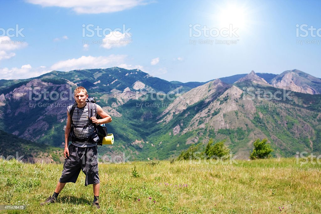 Man and Crimea landscape royalty-free stock photo