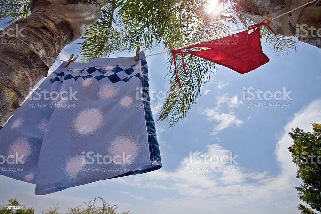 Man and Female swimming wear royalty-free stock photo