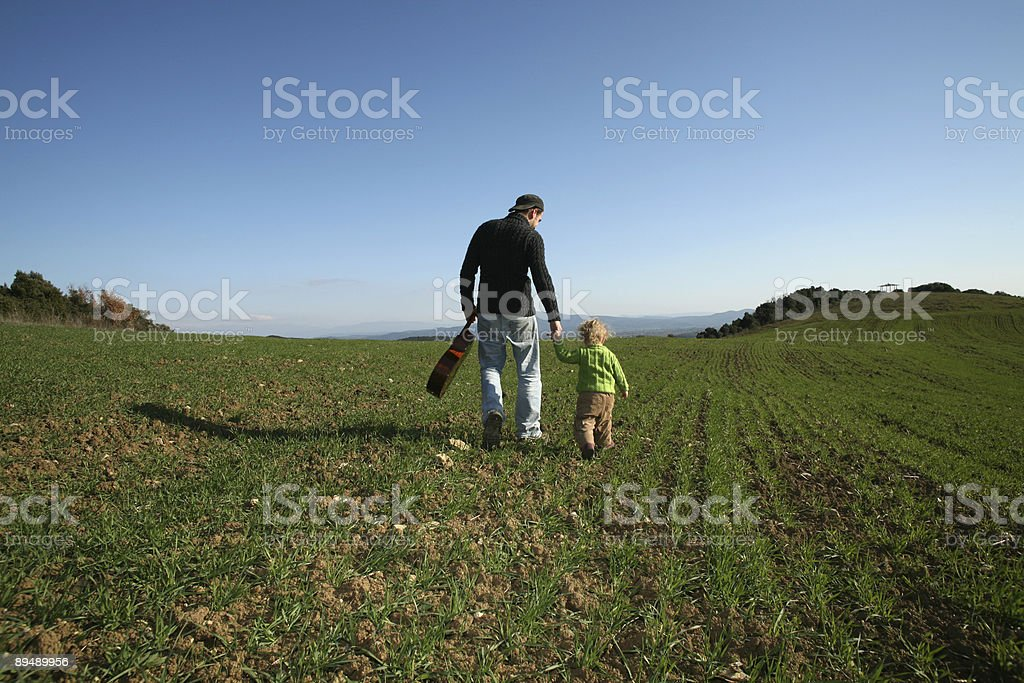 man and girl stock photo