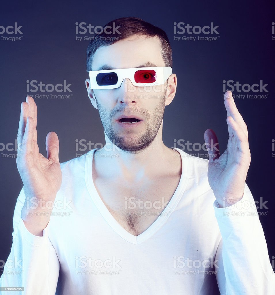 man and glasses royalty-free stock photo
