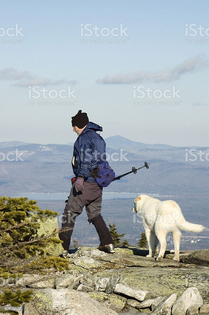 Man and his best friend royalty-free stock photo