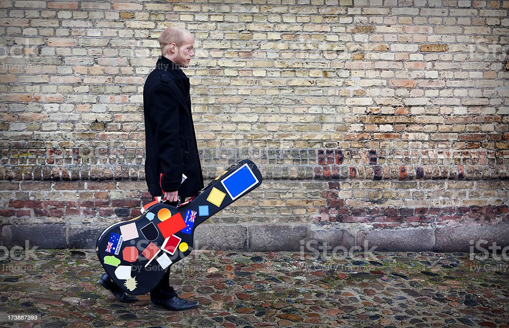 Man and his case stock photo