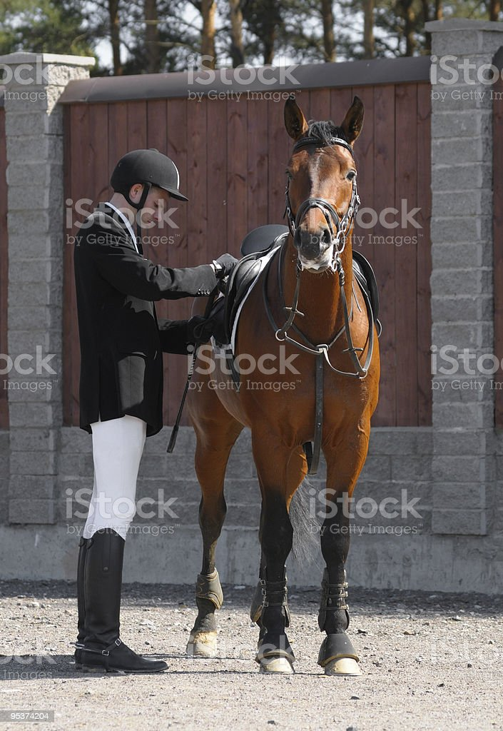 man and horse royalty-free stock photo