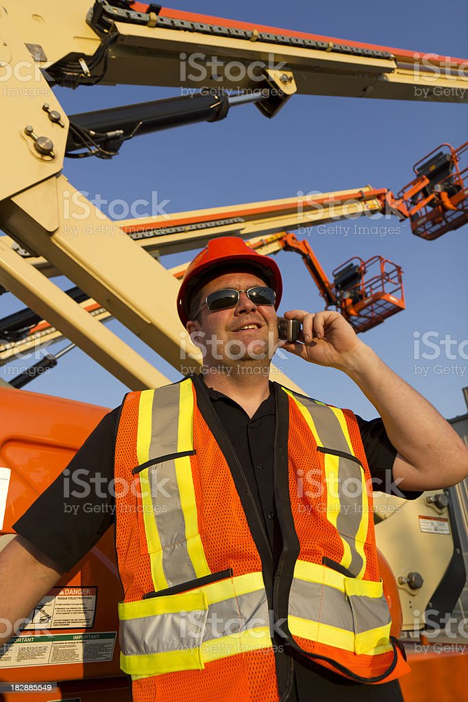 Man and Lift royalty-free stock photo