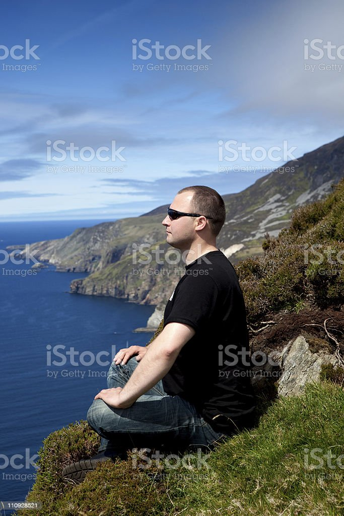 Man and ocean royalty-free stock photo