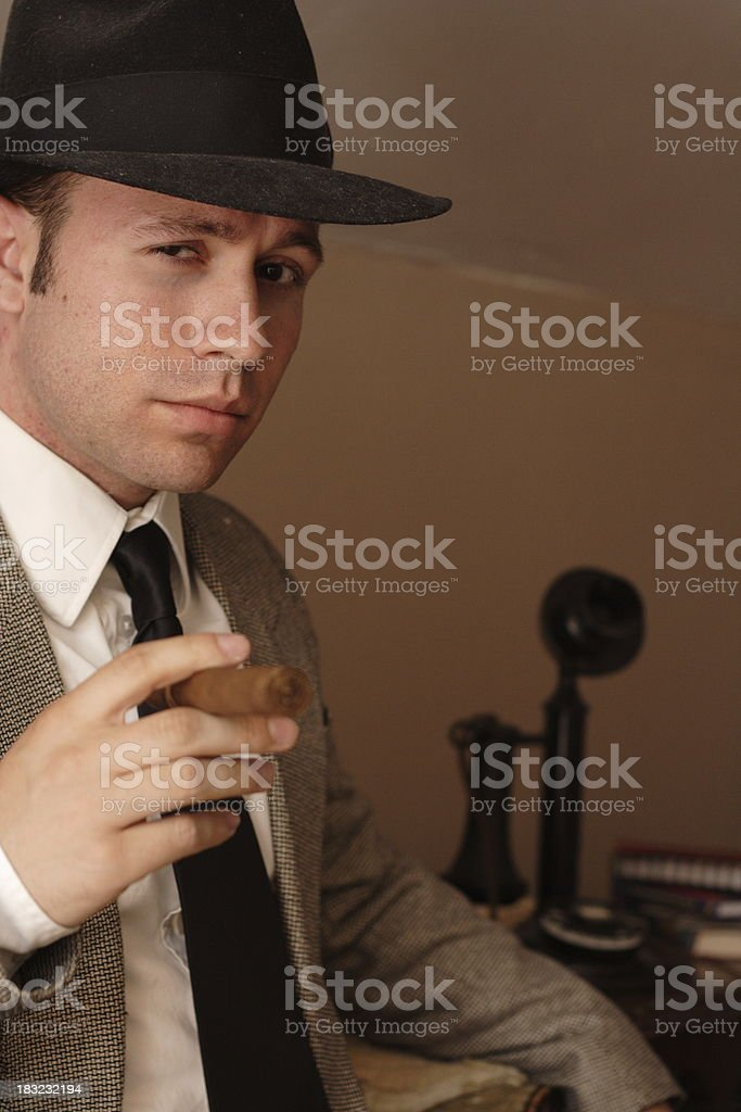 Man and Phone royalty-free stock photo