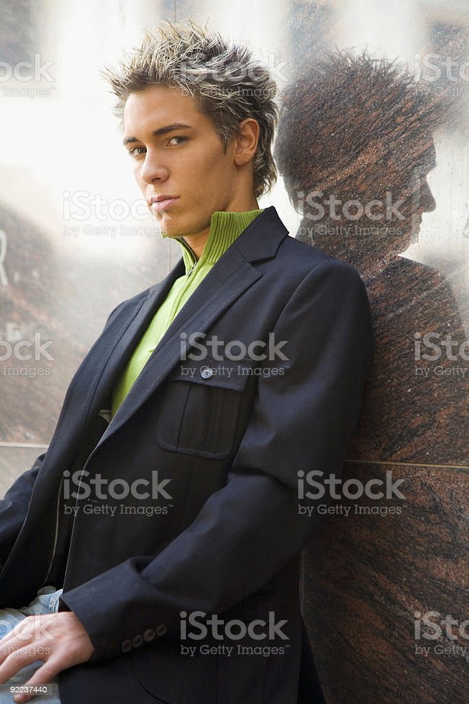 Man and reflection royalty-free stock photo