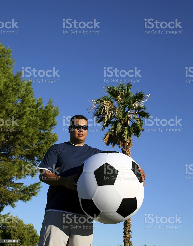 Man and Soccer stock photo