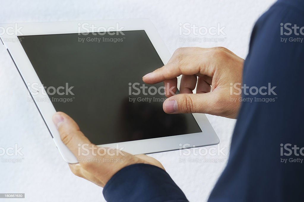 Man and Tablet Computer royalty-free stock photo