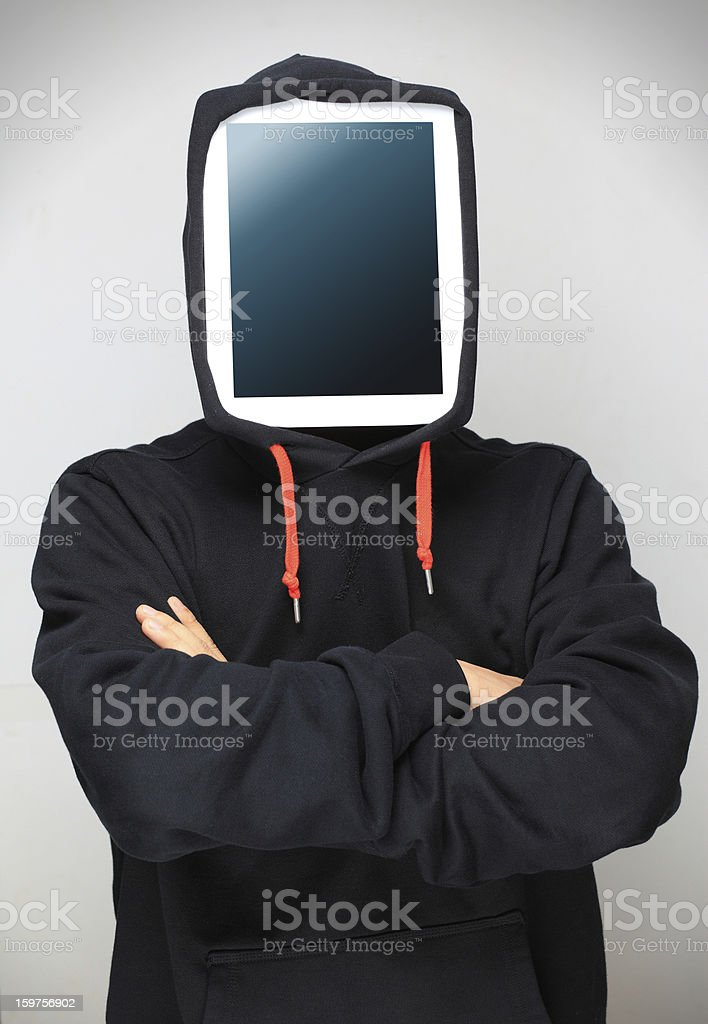 Man and Tablet PC royalty-free stock photo
