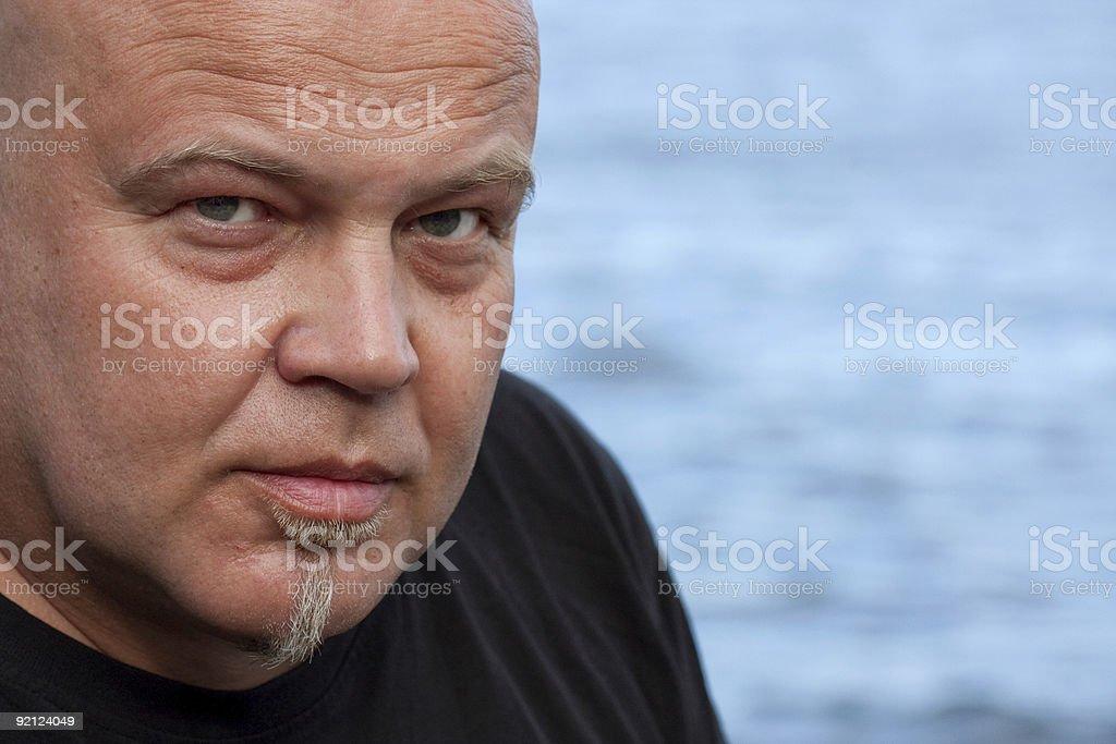 Homem e o mar foto de stock royalty-free
